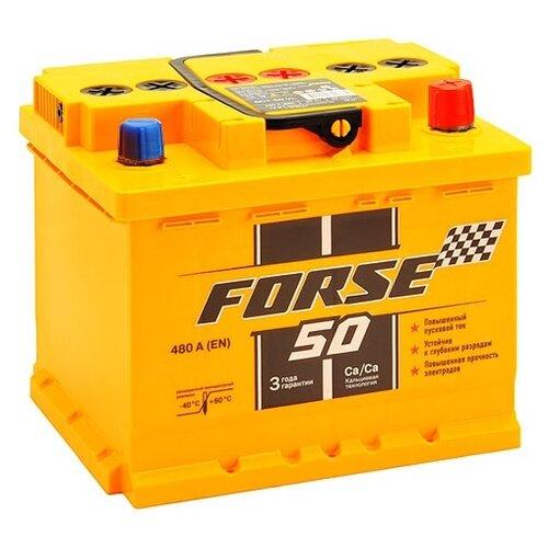 Автомобильный аккумулятор Forse 6СТ-50VLR аккумулятор forse 6ст 65vl jis о п