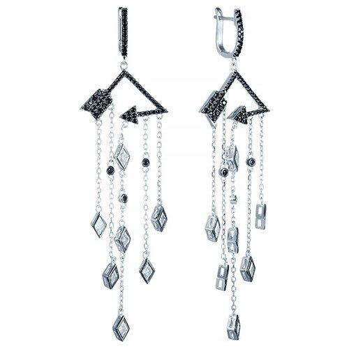 JV Серьги с фианитами из серебра E26900-W2-SR-001-WG jv серьги с фианитами из серебра e26752 w2 sr 001 wg