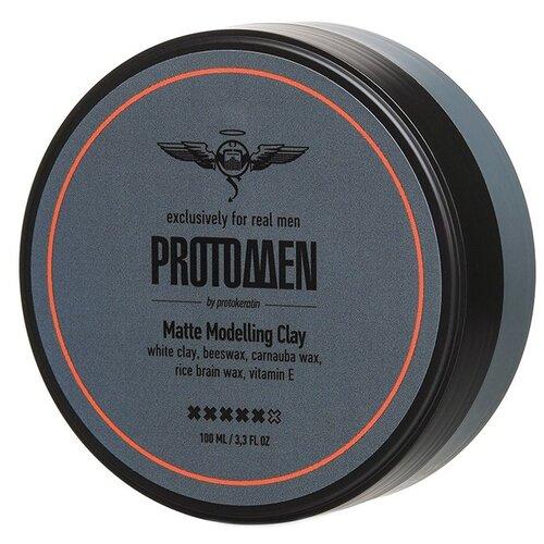 PROTOKERATIN Глина Matte Modelling Clay, сильная фиксация, 100 мл osmo глина воск для волос matte clay extreme 100 мл