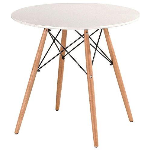 Стол кухонный Avanti Fancy, d: 80 см, белый/бук по цене 7 840