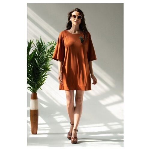 Фото - Платье Laete размер: XL(50) терракотовый платье oodji collection цвет карамель 24001104 5b 47420 4b00n размер xl 50