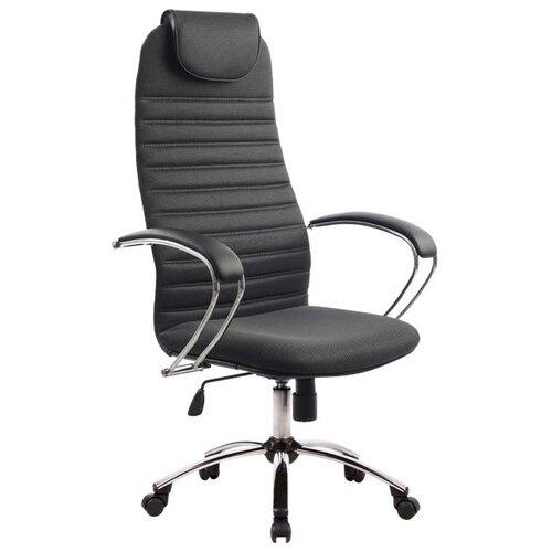 Компьютерное кресло Метта BK-10 Ch офисное, обивка: текстиль, цвет: 21-темно-серый компьютерное кресло метта bp 2 pl офисное обивка натуральная кожа цвет 721 черный