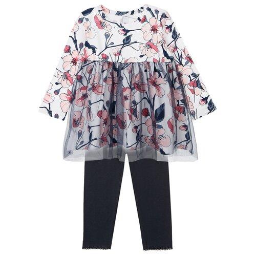 Комплект одежды playToday размер 74, темно-синий/белый/светло-розовый комплект одежды playtoday размер 74 темно синий серый