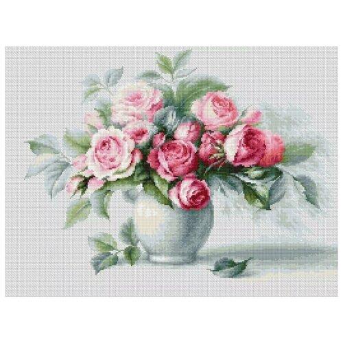 Luca-S Набор для вышивания Этюд с чайными розами, 35.5 х 26 см, B2280