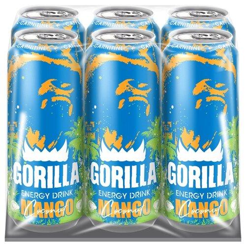 Энергетический напиток Gorilla Mango-Coconut 0.45 л 6 шт..