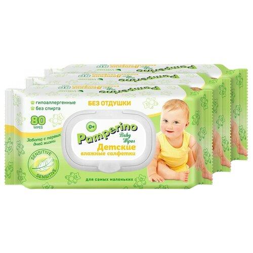 Купить Влажные салфетки Pamperino Без отдушки пластиковая крышка 240 шт.