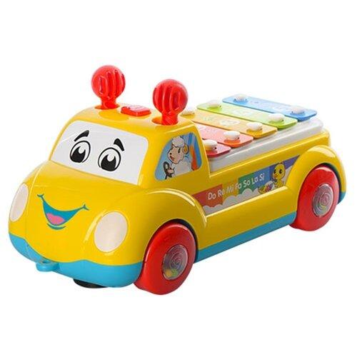 Купить Shantou Gepai ксилофон Машинка Y3601143 желтый, Детские музыкальные инструменты