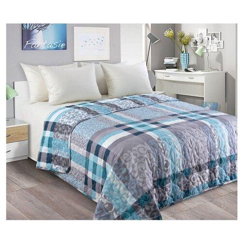 Фото - Покрывало Текс-Дизайн Бруно 200x210 см, голубой/серый покрывало текс дизайн шанталь 140х210 см голубой