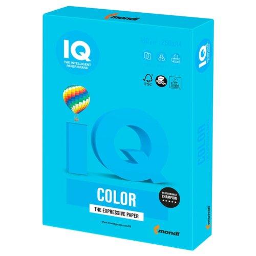 Фото - Бумага IQ Color А4 160 г/м² 250 лист. светло-синий AB48 1 шт. бумага iq color а4 160 г м² 250 лист розовый pi25 5 шт