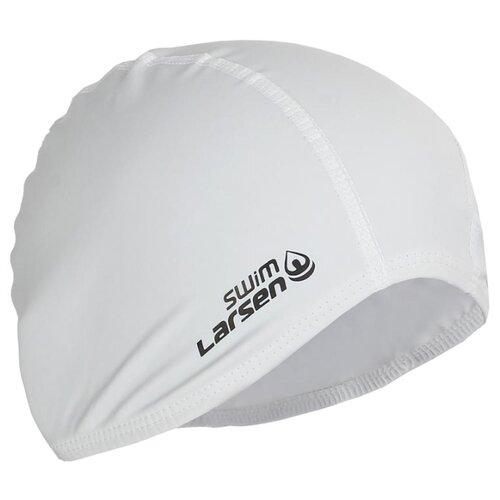 Фото - Шапочка для плавания Larsen 3059 белый очки для плавания larsen dr g101 черный