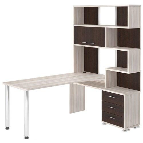 Компьютерный стол угловой Мэрдэс Домино СР-420, 130х170 см, тумба: справа, цвет: карамель/венге/карамель террариум в угловой 60л 420 420 410
