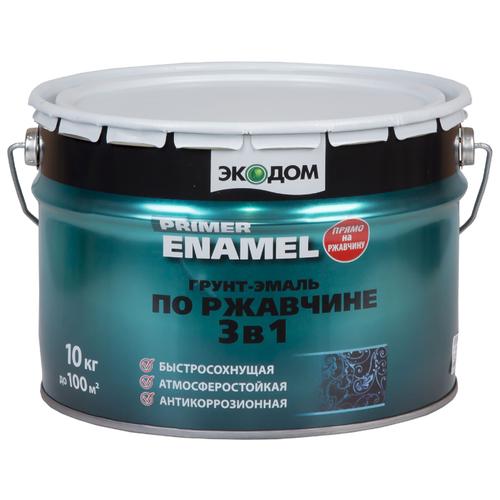 ЭКОДОМ по ржавчине 3-в-1 серый 10 кг