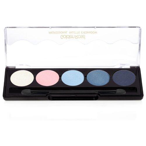 Golden Rose Палетка теней для век Professional Palette Eyeshadow 101 blue line