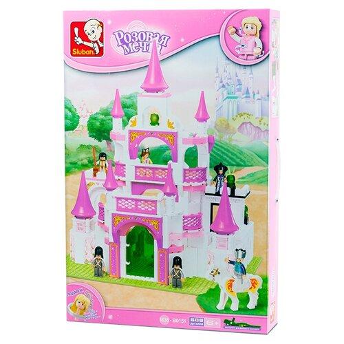 Купить Конструктор SLUBAN Розовая мечта M38-B0151 Королевский замок, Конструкторы