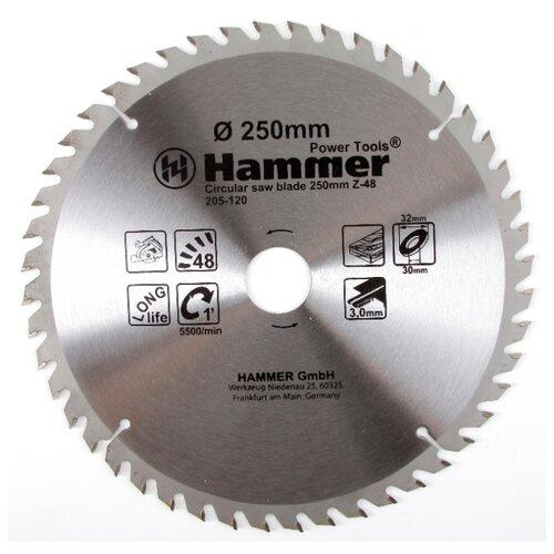 Пильный диск Hammer Flex 205-120 CSB WD 250х32 мм пильный диск hammer flex 205 106 csb wd 165х30 мм