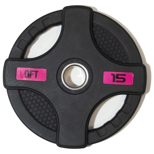 Диск Original FitTools FT-2HGP 15 кг черный