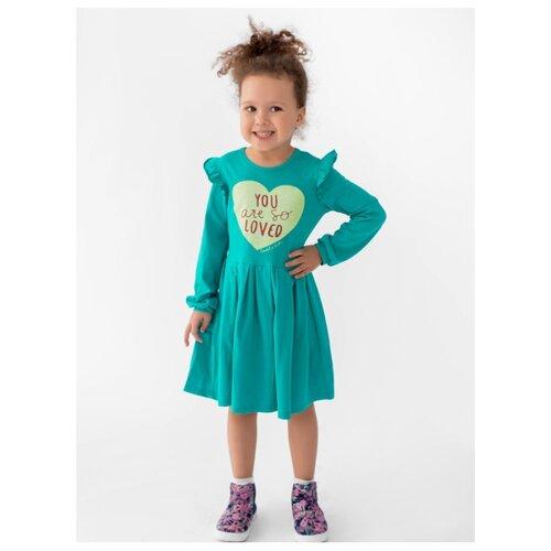 Платье looklie размер 98-104, изумрудный комплект одежды looklie размер 98 104 изумрудный