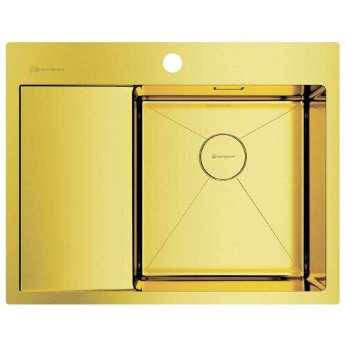 Фото - Врезная кухонная мойка 65 см OMOIKIRI Akisame 65-LG-R светлое золото врезная кухонная мойка 46 см omoikiri akisame 46 lg 4973081 светлое золото