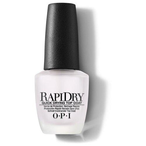 OPI верхнее покрытие RapiDry Top Coat 15 мл прозрачный opi верхнее покрытие top coat 15 мл бесцветный