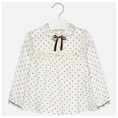 Блузка Mayoral размер 104, коричневый