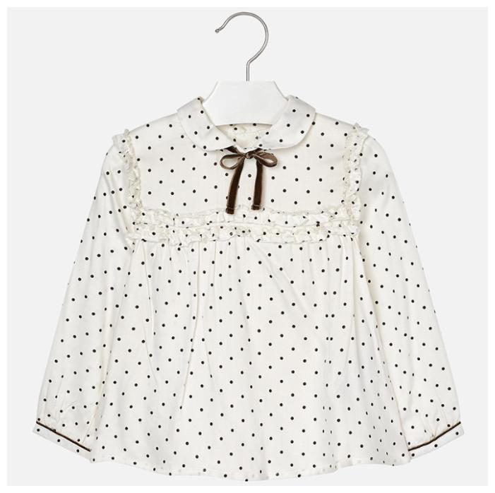 Блузка Mayoral размер 122, коричневый