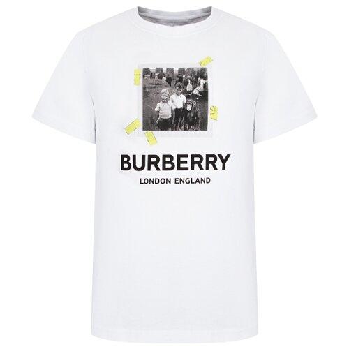 Футболка Burberry размер 140, белый футболка burberry 39624661