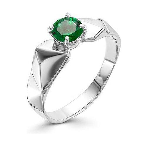 АЛЬКОР Кольцо с 1 изумрудом из серебра 01-0559-00НИ-00, размер 18 алькор кольцо с 1 изумрудом из серебра 01 0577 00ни 00 размер 18
