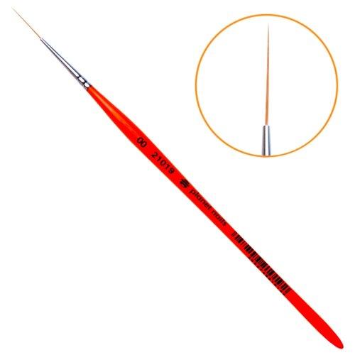 Кисть для дизайна длинный волосок № 00 planet nails красный