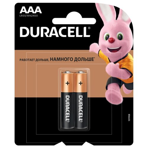 Фото - Батарейка Duracell Basic AAA 2 шт блистер батарейка duracell ultra power aaa lr03 12 шт блистер