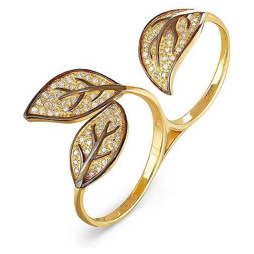KABAROVSKY Кольцо с 79 бриллиантами из жёлтого золота 1-2302-1000, размер 18 kabarovsky кольцо 11 21151 2302 размер 18