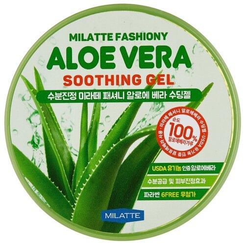 Гель для тела Milatte Универсальный увлажняющий Fashiony Aloe Vera Soothing Gel, 300 мл гель для тела farmstay универсальный смягчающий с экстрактом алоэ aloe vera moisture soothing gel 300 мл