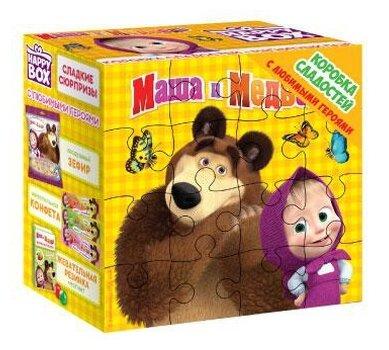 Подарочный набор Happy Box Коробка сладостей Маша и Медведь 296 г