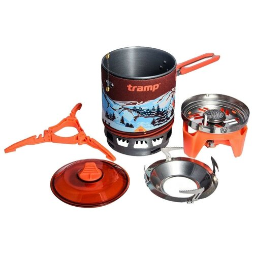 Система для приготовления пищи Tramp 1л. (Оранжевый)