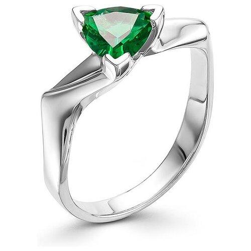АЛЬКОР Кольцо с 1 изумрудом из серебра 01-0561-00НИ-00, размер 18 алькор кольцо с 1 изумрудом из серебра 01 0577 00ни 00 размер 18
