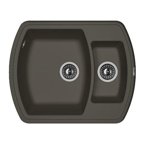 Врезная кухонная мойка 63 см FLORENTINA Нире-630К FS антрацит