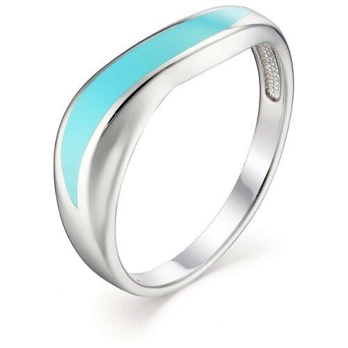 АЛЬКОР Кольцо с эмалью из серебра 01-1098-ЭМ75-00, размер 18 алькор кольцо с эмалью из серебра 01 1096 эм75 00 размер 18