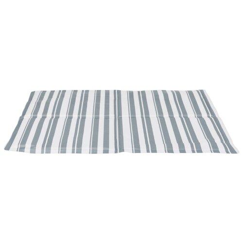 Подстилка-плед для собак и кошек TRIXIE охлаждающая 50х40 см серый/белый