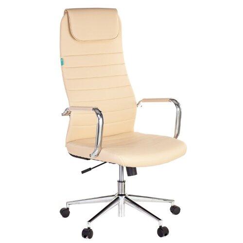 Компьютерное кресло Бюрократ KB-9N для руководителя, обивка: текстиль/искусственная кожа, цвет: бежевый компьютерное кресло tetchair барон обивка искусственная кожа цвет бежевый