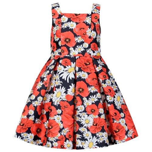 Купить Сарафан Abel & Lula размер 116, цветочный принт/синий/красный/белый, Платья и сарафаны