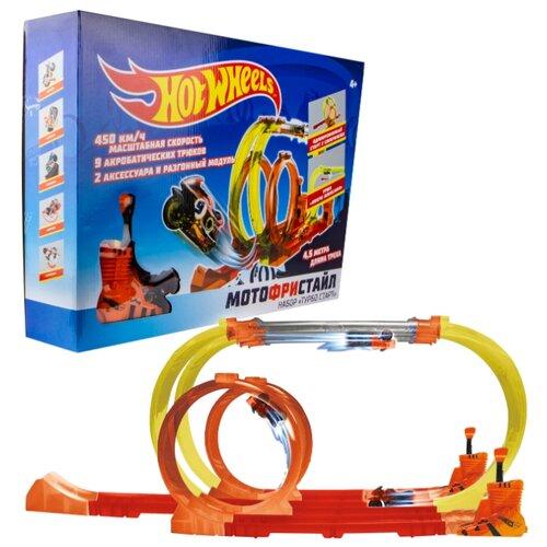 Трек Hot Wheels Мотофристайл Т16724 трек hot wheels турбо трек т14099