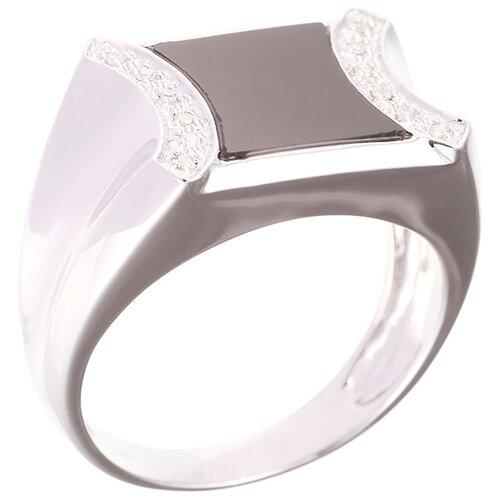 цена на JV Кольцо с ониксом и бриллиантами из белого золота KW5021R-W-BO-10-OX-WG, размер 19.5