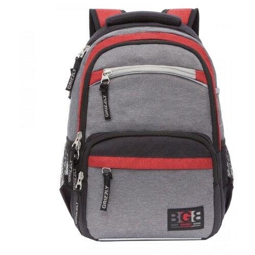 Купить Grizzly Рюкзак RB-054-7, серый, Рюкзаки, ранцы