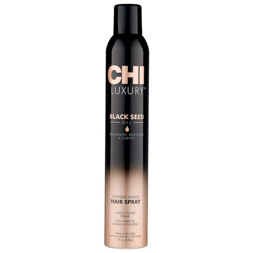 CHI Luxury Лак для волос Black seed oil Flexible hold, слабая фиксация, 340 г, 355 мл chi кондиционер luxury moisture replenish black seed oil 739 мл