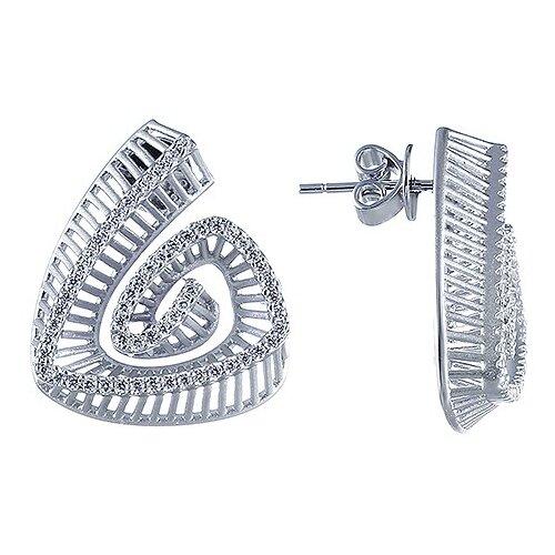 Фото - JV Серебряные серьги с кубическим цирконием DM2495E-SR-001-WG jv серебряные серьги с кубическим цирконием ss b0858ec sr 001 wg