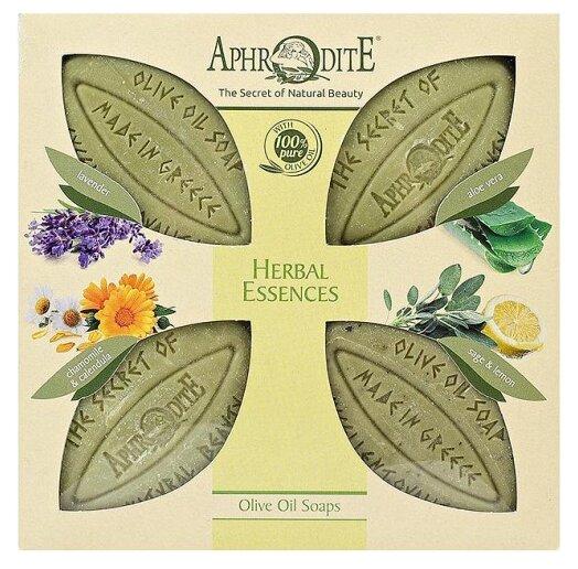 Купить Набор мыла кускового Aphrodite оливкового Ароматные травы, 85 г, 4 шт. по низкой цене с доставкой из Яндекс.Маркета