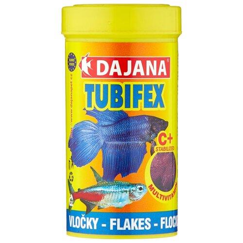 Сухой корм для рыб Dajana Pet Tubifex Flakes 250 мл 50 г сухой корм для рыб dajana pet malawi flakes 1000 мл 200 г