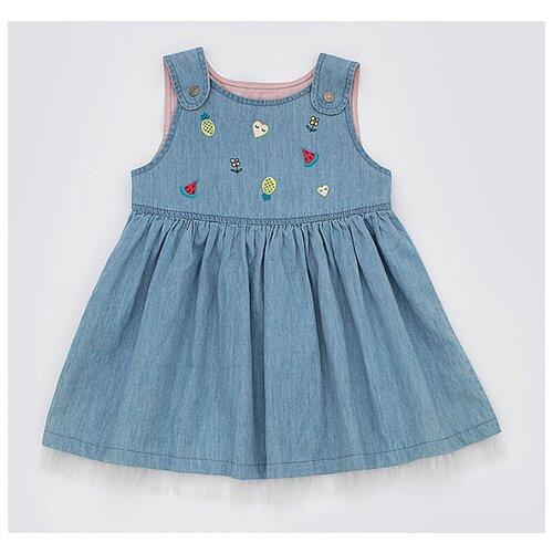 Купить Сарафан Pixo Chartreux размер 74, голубой, Платья и юбки