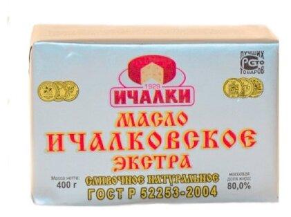 Ичалки Масло сливочное Ичалковское экстра 80%, 400 г