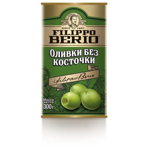 Filippo Berio Оливки без косточки в рассоле, жестяная банка 300 г