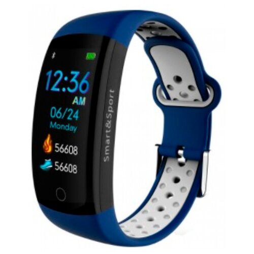 Умный браслет GARSline Q6S синий/белый